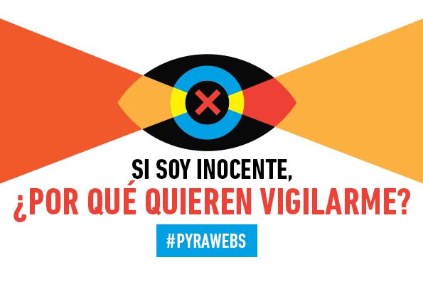 Afiche: Si soy inocente, ¿por qué quieren vigilarme?