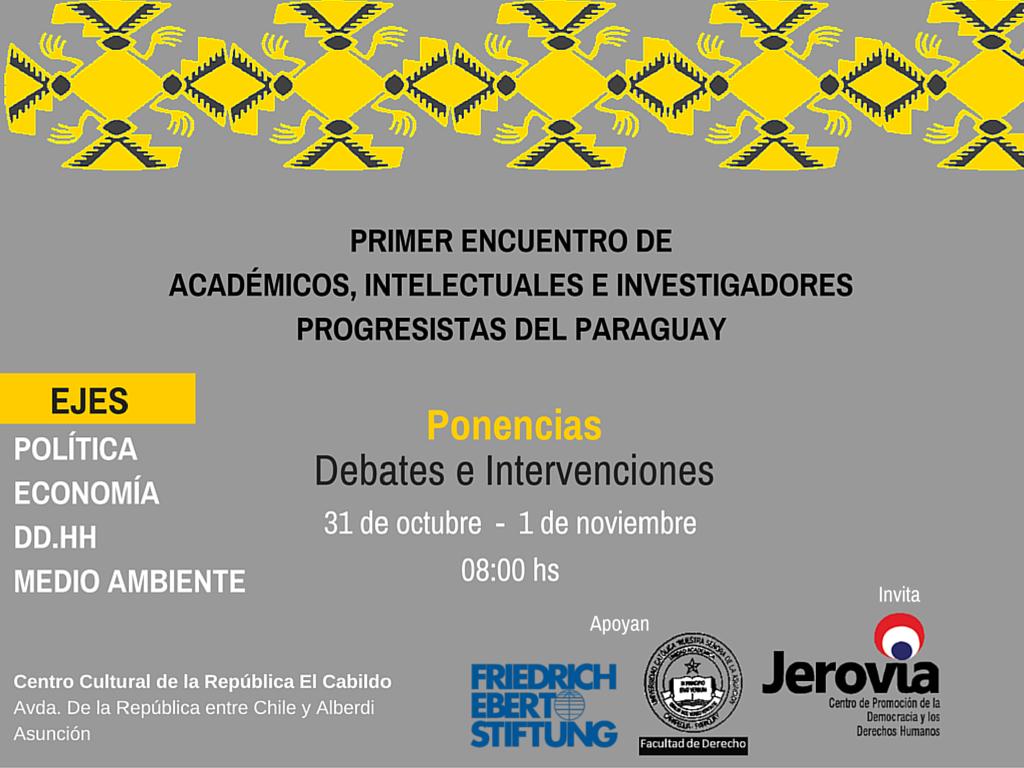 Jerovia Invita al Primer Encuentro de Académicos