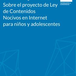 Descargá nuestro análisis que cuestiona el enfoque que tiene el proyecto de protección de la niñez en Internet, violentando nuestra libertad de expresión en Internet