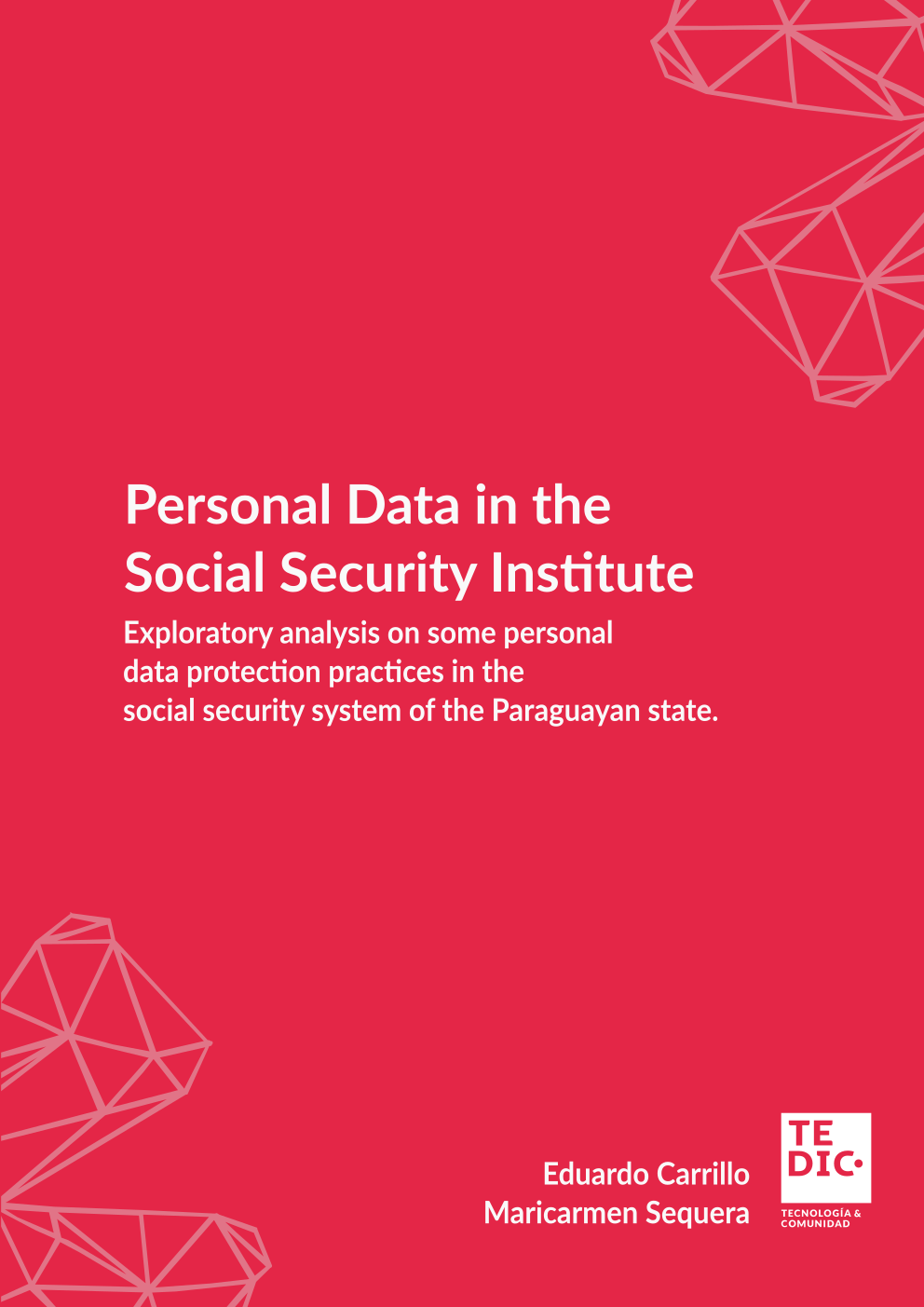 "Cover of the research ""Exploratory analysis on some personal data protection practices in the social security system of the Paraguayan state"""