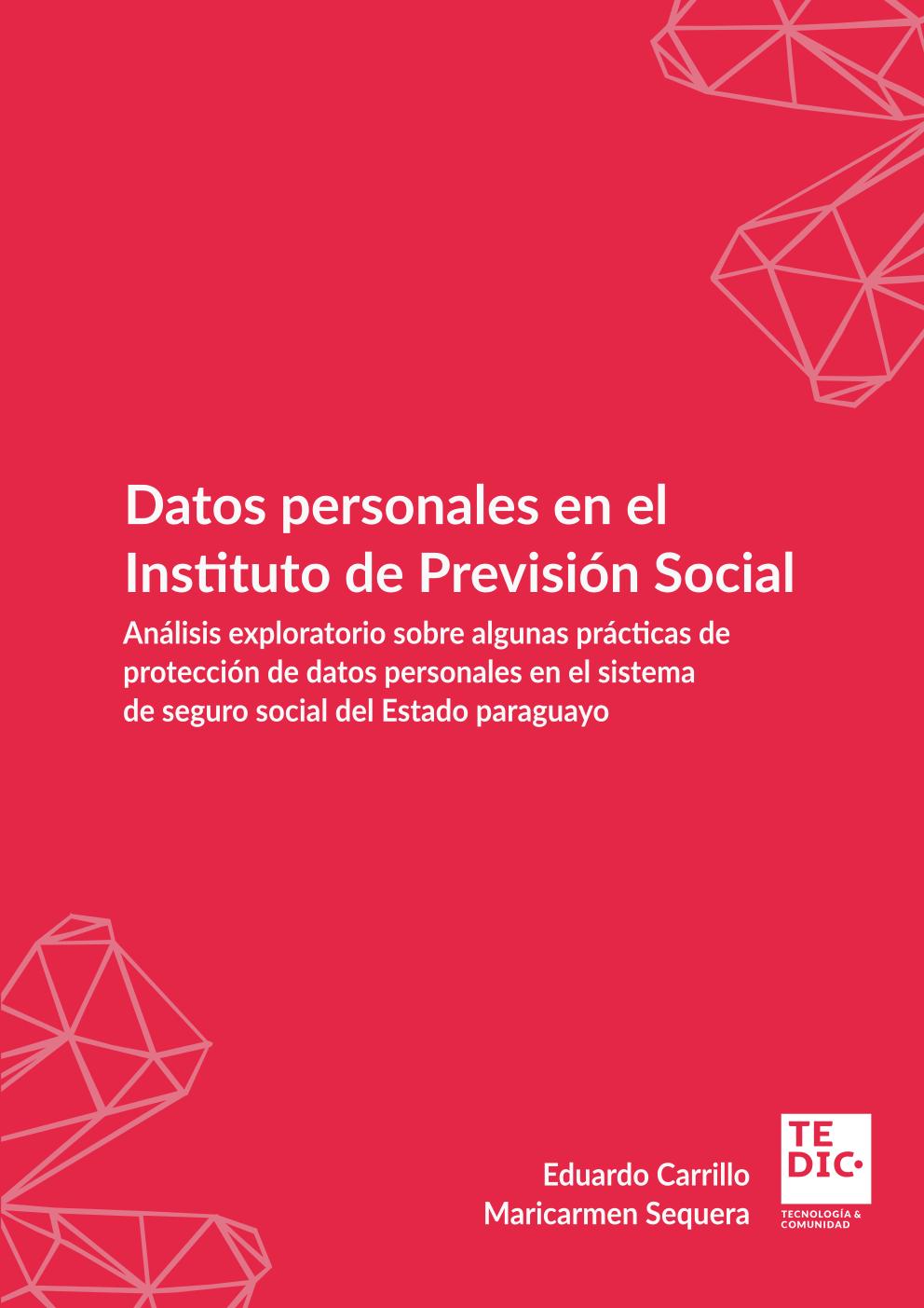 Portada investigación Datos Personales en el sector de salud