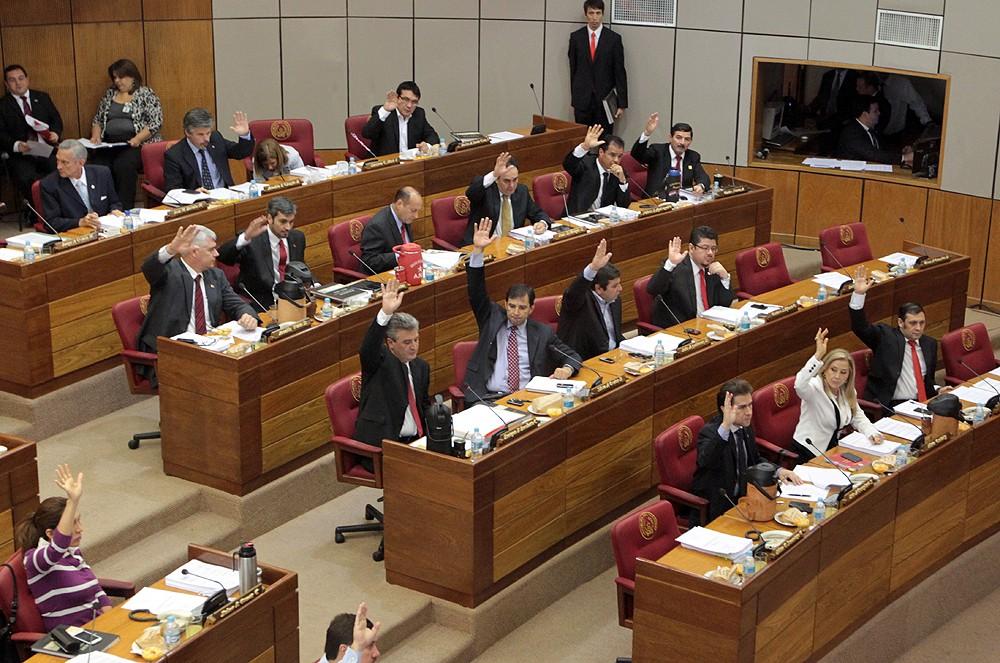 Unos 20 legisladores votando