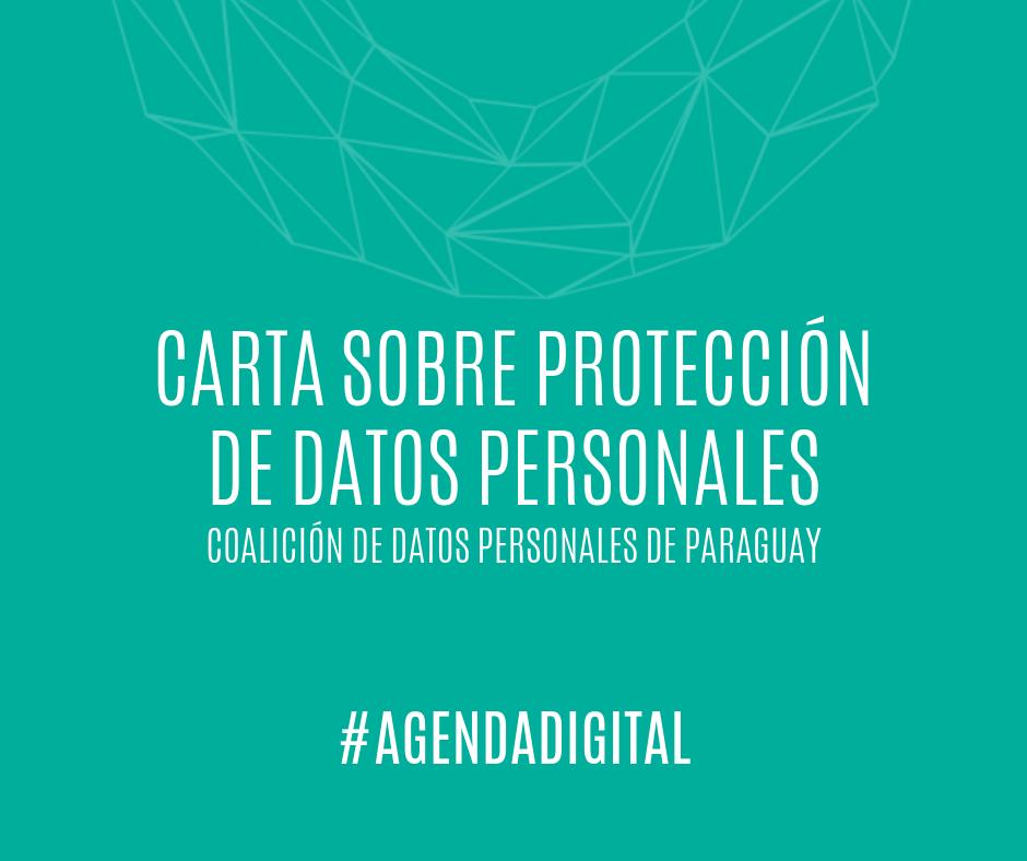Carta sobre proteccion de datos personales