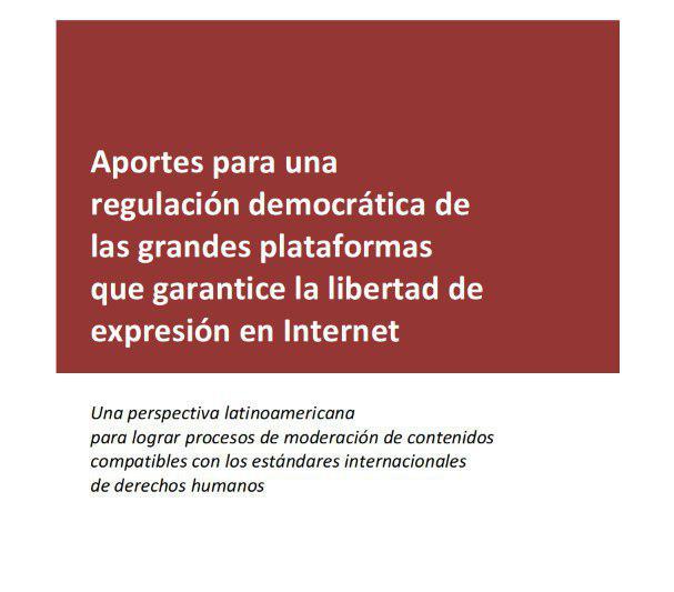 Portada documento posicionamiento regulaciòn plataforma