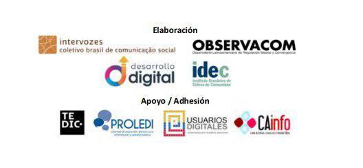 organizaciones involucradas en elaboración de documento posicionamiento