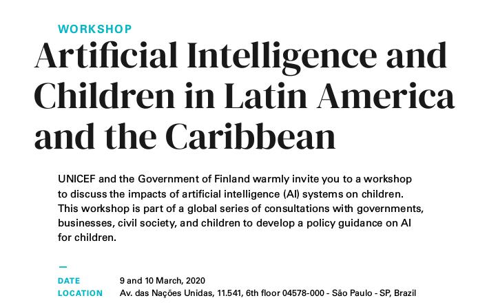 Inteligencia Artificial y niñez