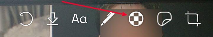 Se ve la botoner de Signal al editar una imagen