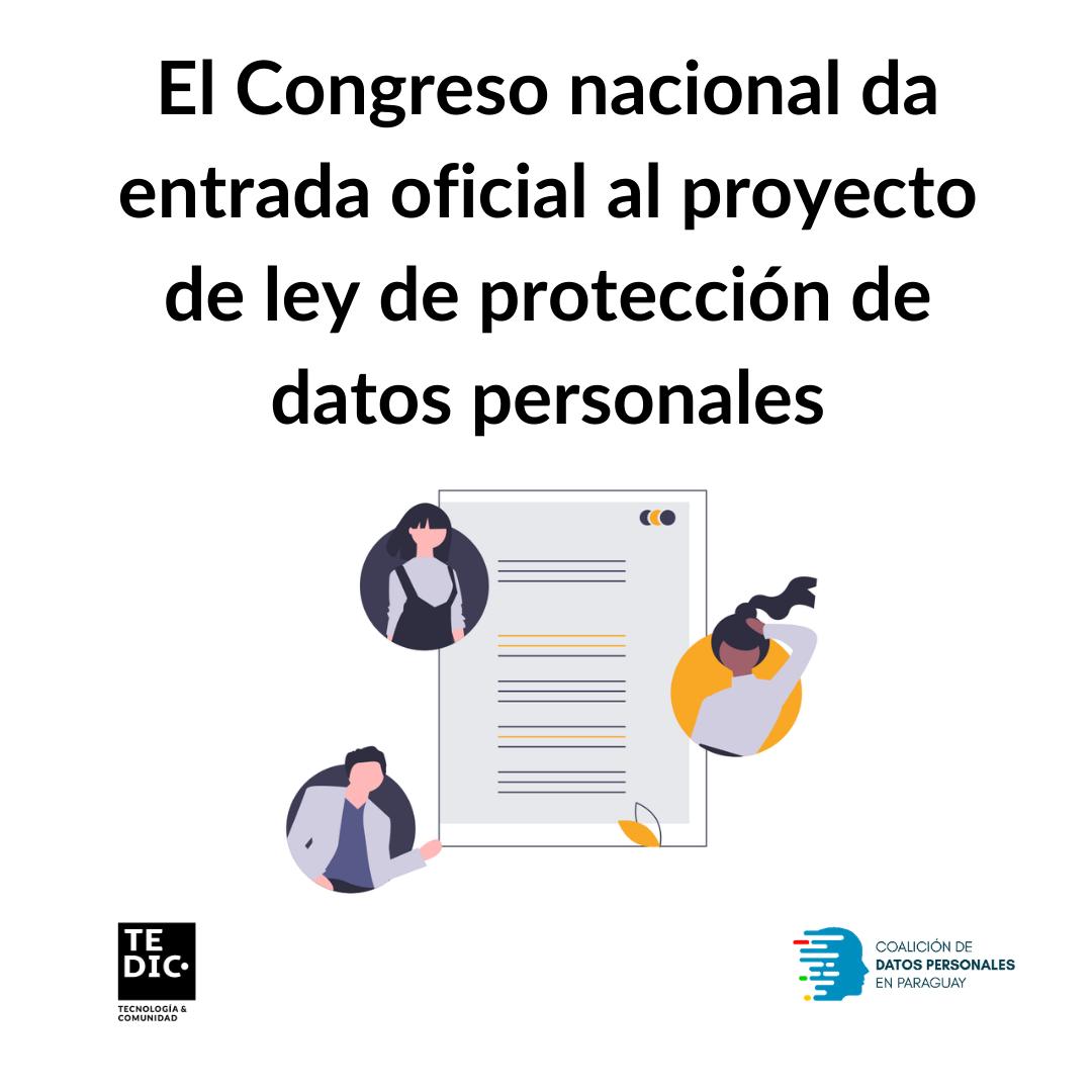 El Congreso nacional da entrada oficial al proyecto de ley de protección de datos personales