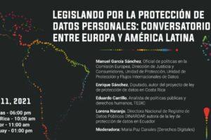 Flyer conversatorio access now ley de datos personales