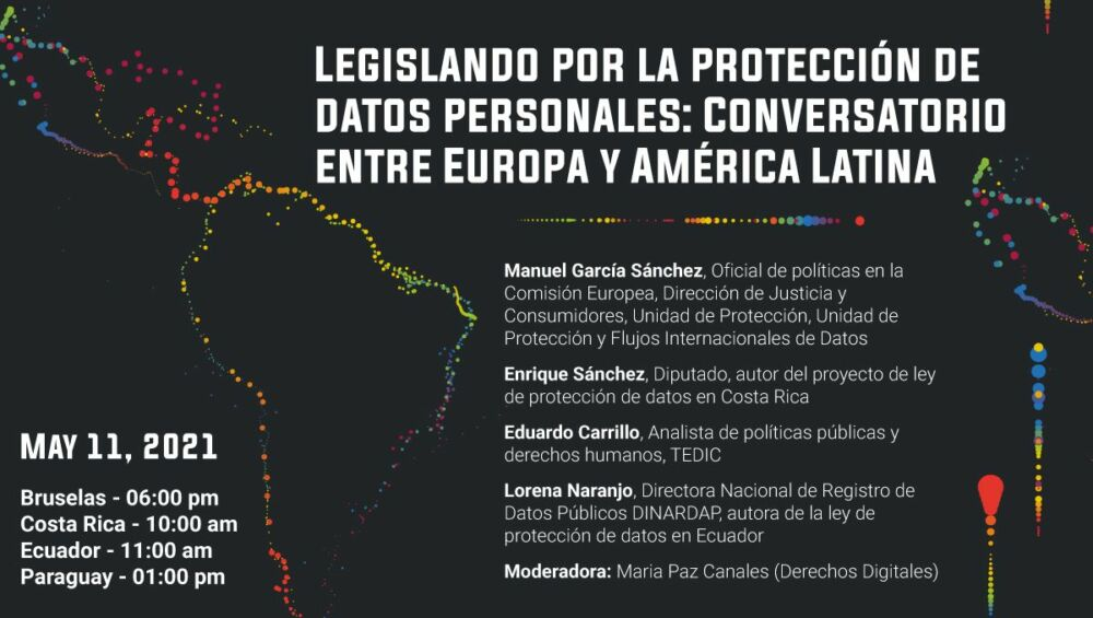 Flyer conversatorio access now ley de datos personales